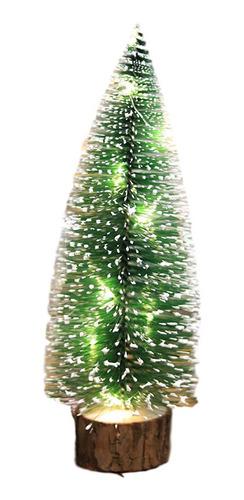 Imagen 1 de 7 de Decoración De La Mesa Mini Árbol De Navidad Luz Cálida 20cm