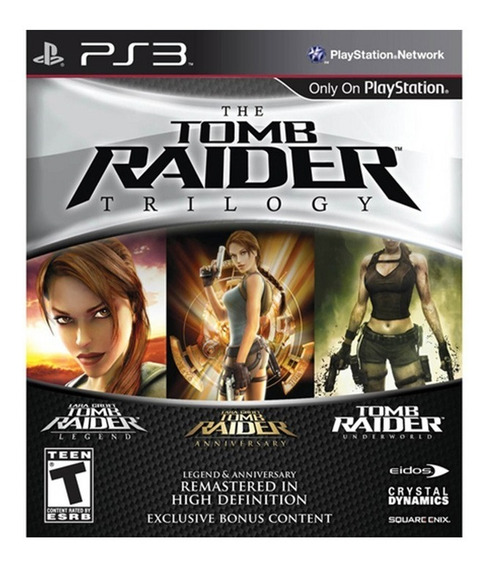 The Tomb Raider Trilogy - Ps3 - Novo - Mídia Física