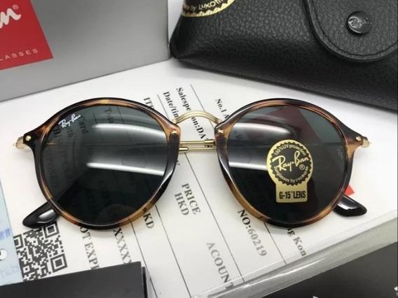 Oculos De Sol Ray Ban Round Fleck Rb2447 Feminino Masculino