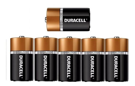Pilha Duracell D Alcalina Grande 1.5 V C/ 6 Unidades