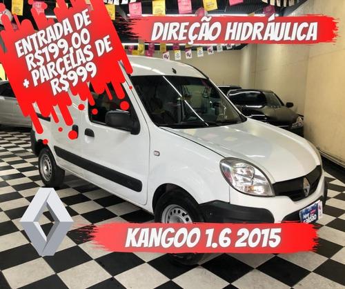 Imagem 1 de 11 de Renault Kangoo Express  Branca 2014/2015 Flex Mec