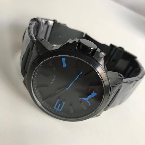 Relógio Puma Preto Detalhe Azul !