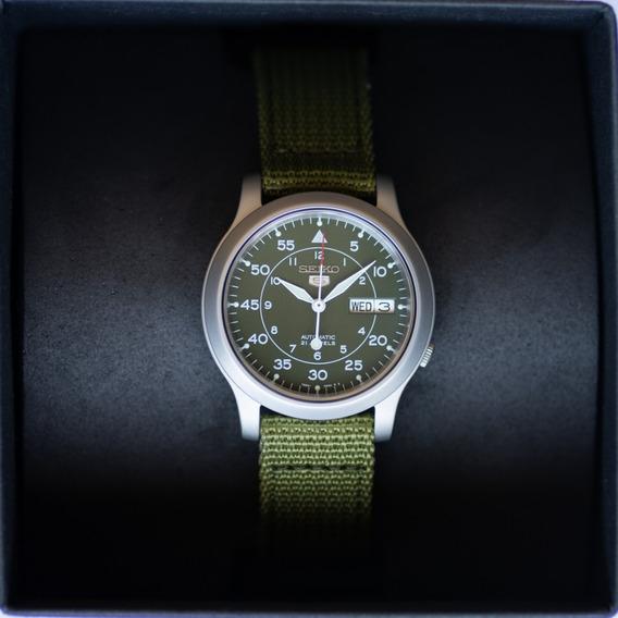 Relógio Seiko Militar Automático Snk805 Snk805k2 P. Entrega