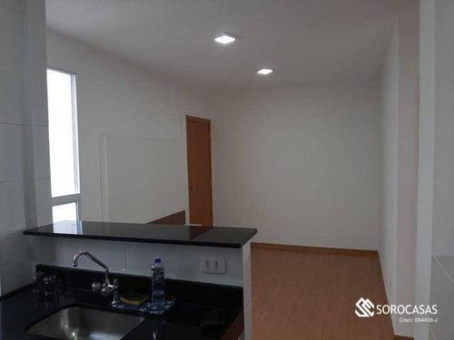 Apartamento Com 2 Dormitórios Para Alugar, 42 M² Por R$ 900,00/mês - Condomínio Serra Bonita - Sorocaba/sp - Ap1343