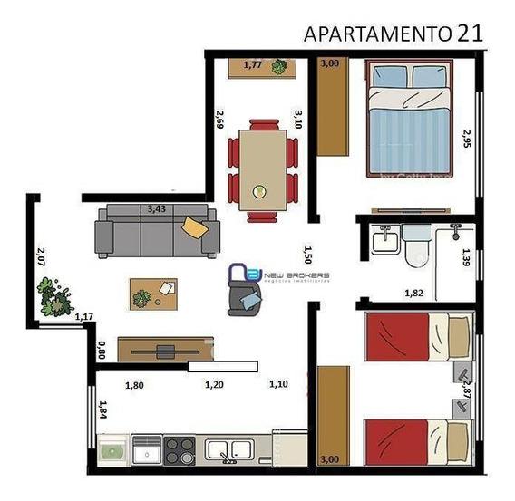 Apartamento Com 2 Dormitórios Para Alugar, 48 M² Por R$ 1.800/mês - Tatuapé - São Paulo/sp - Ap4058