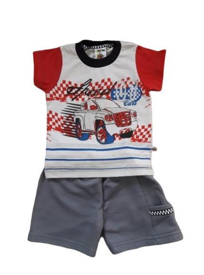 Conjunto Molekada Tam. G Bebê Menino Bermuda Camiseta