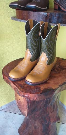 Bota Country Texana Bico Redondo Nº 40