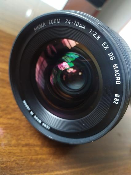 Lente Sigma Zoom 24-70mm 2.8 Ex Dg Macro Para Nikon