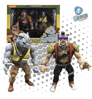 Neca Tmnt Figuras Bebop And Rocksteady Tortugas Ninja Set 2
