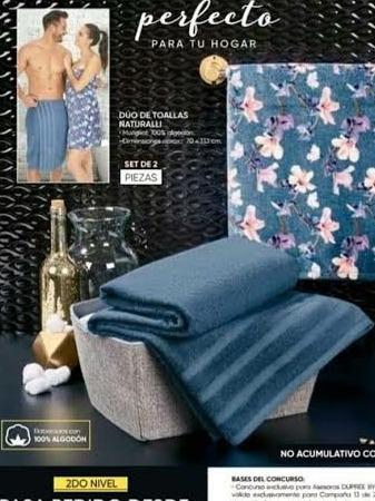 Basics microfibra, 1 toalla de ba/ño y 1 toalla de mano Juego de toallas de viaje y deporte