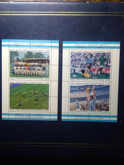 Estampillas Copa Mundial Mexico 1986