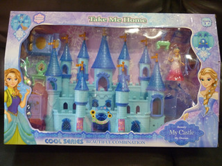 Castillo De Frozen Princesa Muñeca Elsa Con Accesorios
