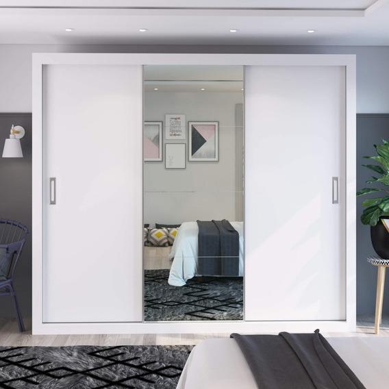 Guarda Roupa Casal Com Espelho 3 Portas De Correr Sara F