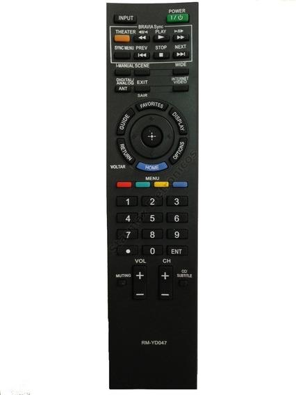 Controle Tv Sony Bravia Lcd Kdl-40bx405 Rm-yd064 Novo Zerado
