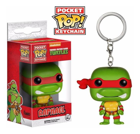 Chaveiro Raphael - Tartarugas Ninja Tmnt - Pocket Pop! Funko