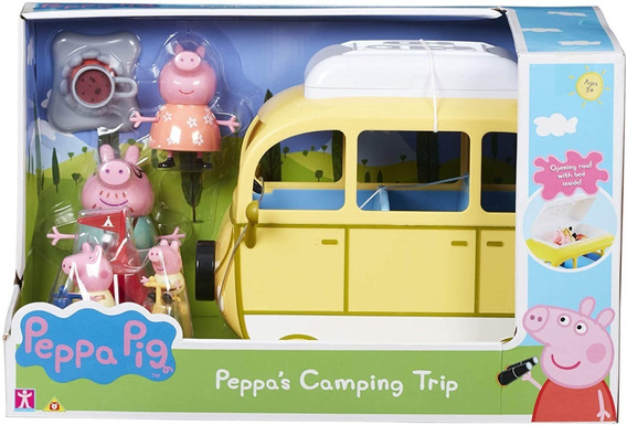 Peppa Pig Set De Camping Familiar Con Vehiculo Y Figuras