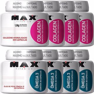 Kit Atacado - Colageno + Omega 3 - Max Titanium