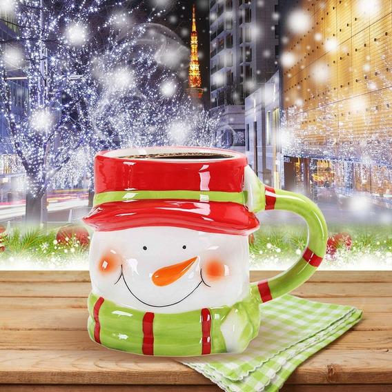 Copo Caneca Cerâmica Natal Adorável Animal 3d - Forma Leit
