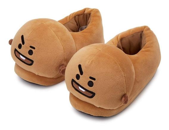 Pantuflas De Bts Bt21 Integrantes Tipo Peluche K-pop Corea