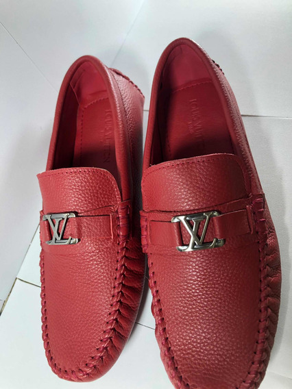 Mocasín Louis Vuitton Placa Lv Rojo