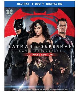 Blu Ray Batman V Superman Dawn Justice Dvd Ultimate Dc