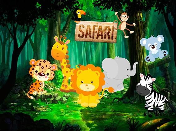 Fundo Fotográfico Tecido Sublimado Safari 3,00m X 1,70m