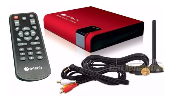 Receptor Antena Tv Digital E-tech Dvd Automotivo Multimidia