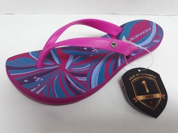 Sandália Chinelo Kenner Preto Rosa Azul Feminino Original Ibiza 1 Ano Garantia 12x Sem Juros Pronta Entrega