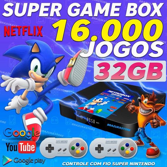Retro Box -video Game16.000 Jogos Antigos 32gb C/ Extensores