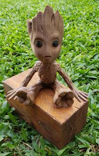 Baby Groot Sentado Maceta 15cm Impresa 3d