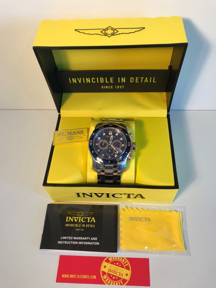 Invicta Pro Diver Scuba 0077 Duo Color Fundo Azul