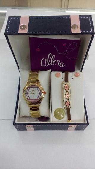 Kit Relógio Mais Semi-jóias Allora