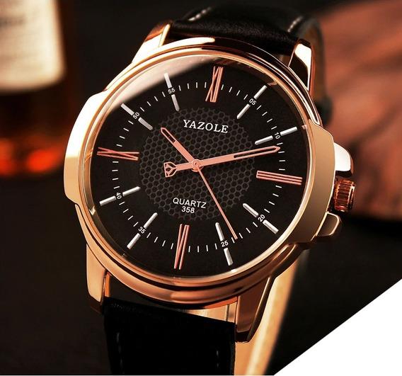 Relógio Masculino Yazole Luxury Gold