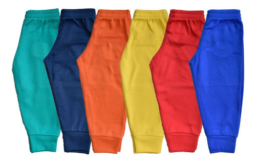 Imagen 1 de 7 de Pantalón Para Bebé 6 Piezas 100% Algodón Talla 0-6 Meses Pf