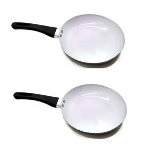 2 Frigideira Com Revestimento Cerâmica Fritura Mais Saudável