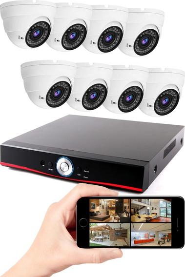 Dvr Gravador De Vídeo 1080p + 8 Câmeras De Vigilância Multhd