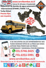 Bomba De Agua Automotriz International Dt466,dt360 Guatemal