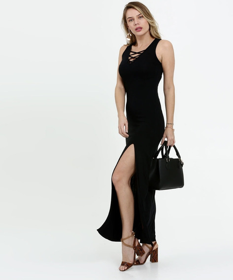 Vestido Feminino Longo Strappy Sem Manga Costa Rica