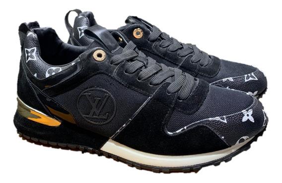 Tenis Louis Vuitton Sneakers Black Monogram, Envío Gratis