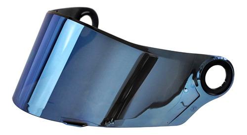 Imagem 1 de 1 de Viseira Capacete Ls2 Modelo Ff358 Original Iridium Azul