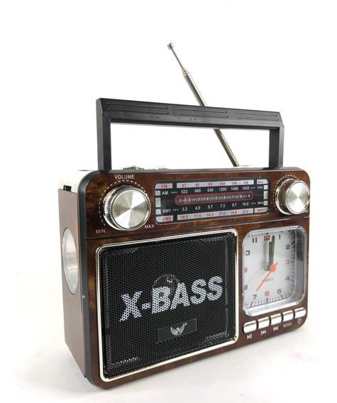 Caixa De Som Portatio Altomex A-135 Radio Usb Am Fm