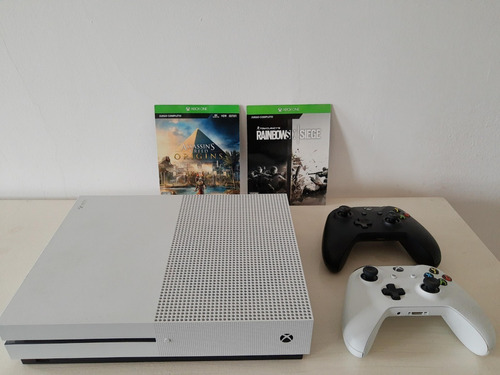 Xbox One S 1tb Blanca + 2 Controles + Juegos