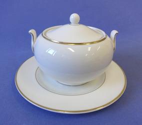 Açucareiro Porcelana Inglesa Wedgwood - Com Prato