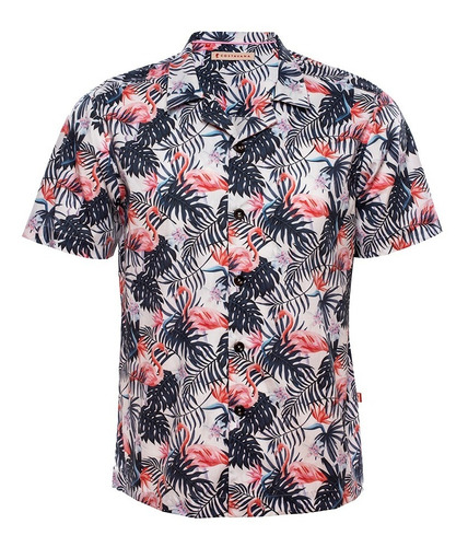 Camisa Estampada Flamengos Mod. Tropical - Costavana