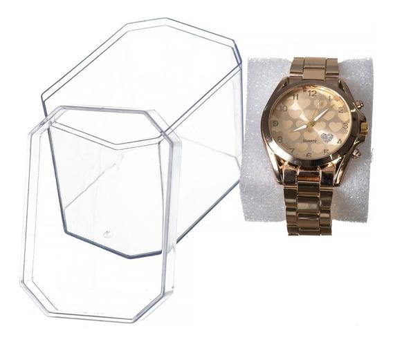 Kit 20 Relógio Feminino + Caixa De Acrílico Promoção !