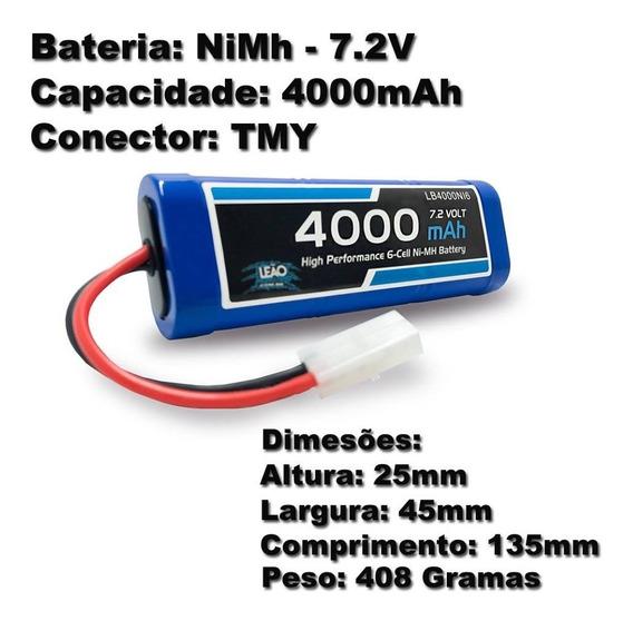 Bateria Nimh 7.2v 4000mah Starter Caixa Partida Crawler Auto