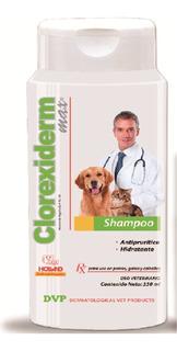 Shampoo Clorexiderm Max 350 Ml Antiséptico Y Antiprurítico