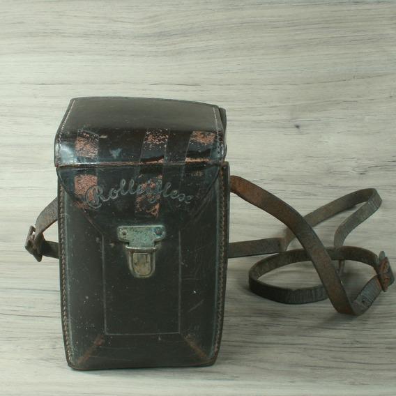 Capa De Couro Da Máquina Rolleiflex