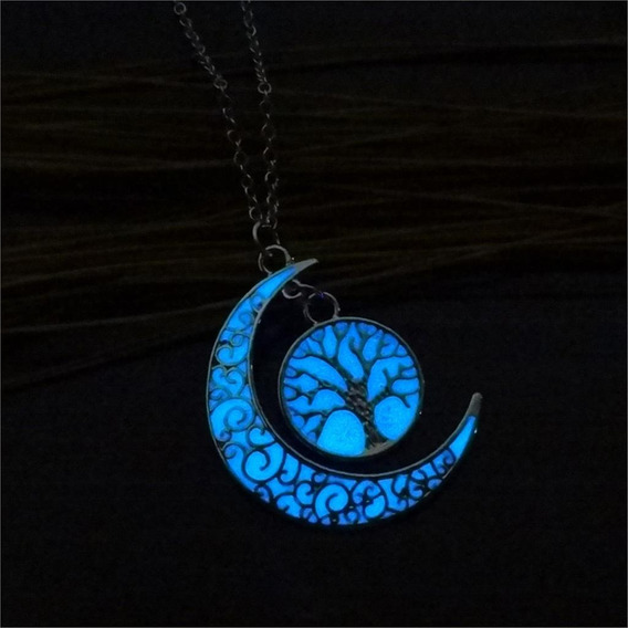 Colar Brilha Escuro Lua Árvore Da Vida Promoção!!