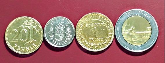 Monedas Europa 12 Finlandia Y Otros Países